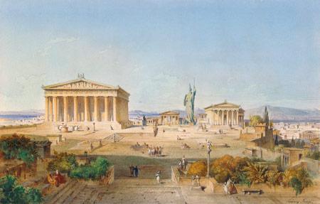 Ludwig Lange, Die Akropolis von Athen zur Zeit des Perikles