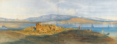 Ludwig Lange, The Harbour of Piraeus, c. 1834-37sm