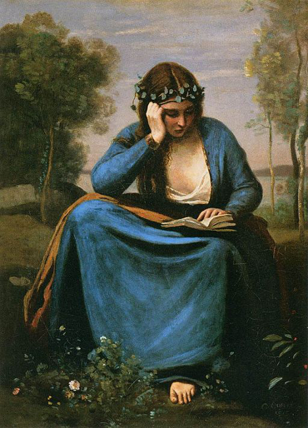 jean-baptiste-camille_corot_-_the_reader_wreathed_with_flowers