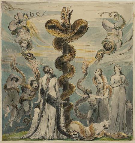 william-blake-moses-erecting-the-brazen-serpent