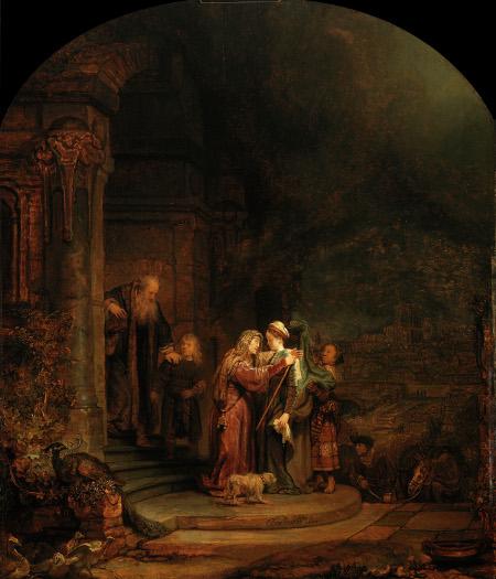 Rembrandt,Visitation,1640