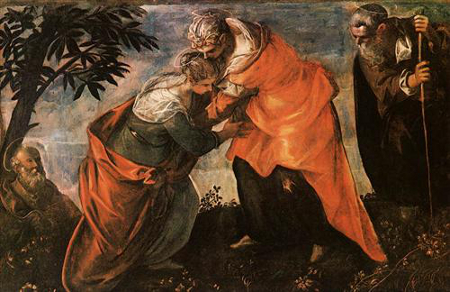 Tintoretto,Visitation,c.1588